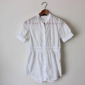 Club Monaco white blouse